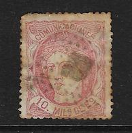 ESPAÑA. Edifil Nº 105 Usado Y Defectuoso - 1868-70 Provisional Government