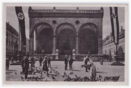 """DT- Reich (001452) Propagandakarte """"München, Feldherrenhalle, Taubenfütterung, Ungebraucht"""" - Briefe U. Dokumente"""