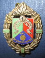 1° R.E.C. Ovale, Dos Guilloché, 2 Anneaux, Vert Opaque - Armée De Terre