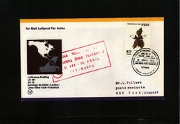 Peru 1975 Lufthansa First Flight Lima - New York - Peru