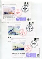 """2012 RUSSIA POSTCARDS """"B"""" X3 RUSSIAN MUSEUM OF THE ARCTIC AND ANTARCTICA ICEBREAKERS - Polar Ships & Icebreakers"""