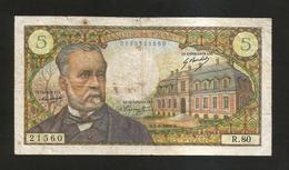 FRANCE - BANQUE De FRANCE - 5 Francs PASTEUR  (B.1 - 8 - 1968 ) - 5 F 1966-1970 ''Pasteur''