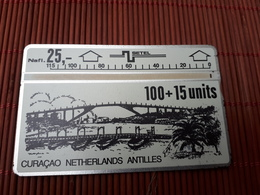 Phonecard Landis & Gyr Curacao 109 D 00173 Low Number Used Rare - Antilles (Netherlands)
