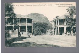 MAURITIUS  Banque D'Epargne Et Banque De Maurice (Port Louis) Ca 1910 OLD POSTCARD 2 Scans - Mauritius