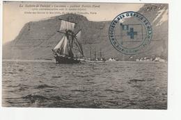 """LA GOELETTE DE PAIMPOL """"GARDENIA"""" QUITTANT PATRICK FYORD .... - CLICHE DES OEUVRES DE MER (1909) - 22 - Paimpol"""