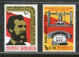 Bangladesh 1979 First Telephone Alexander Graham Bell Science Sc 107-8 MNH #2167 - Bangladesh