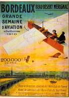 Illustrateur  NUGERON  R 23 TOURISME BORDEAUX Beau Désert Mérignac GRANDE SEMAINE D'AVIATION 1910 (avion)*PRIX FIXE - Illustrateurs & Photographes