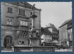Obernai - Vieille Fontaine Et Mairie - Obernai