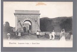 MAURITIUS  Suspension Bridge - Grand River Ca 1910 OLD POSTCARD 2 Scans - Mauritius