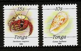 TONGA 1992 - SEAFOOD Meerestiere - 2v Mi 1215-1216 MNH ** Cv€22,00 V367 - Tonga (1970-...)