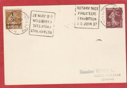 Rotary - Daguin Rotary Nice Philatelic Exhibition 6-8 Juin 1937 - Rotary, Lions Club