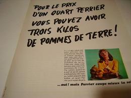 ANCIENNE PUBLICITE PERRIER COUPE LA SOIF 1969 - Posters