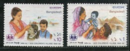 Bangladesh 1989 SOS Children's Village Child Survival Health Sc 331-2 MNH # 2022 - Bangladesh