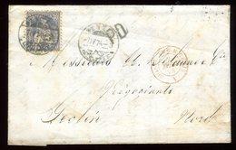 Suisse - Lettre Avec Texte De Genève Pour Seclin En 1874 - Réf O6 - 1862-1881 Helvetia Assise (dentelés)