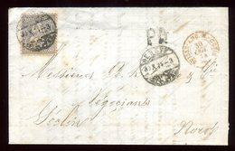 Suisse - Lettre Avec Texte De Genève Pour Seclin En 1874 - Réf O7 - 1862-1881 Helvetia Assise (dentelés)