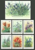 AZERBAIJAN 1993 FLOWERS TULIPS IRIS MUSCARI SET & M/SHEET MNH - Azerbaïjan