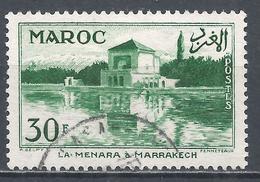 French Morocco 1955. Scott #324 (U) Menara Garden Marrakesh * - Marruecos (1891-1956)