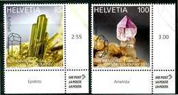 SVIZZERA/ HELVETIA 2014** - International Year Of Crystallography - 2 Val. MNH Come Da Scansione - Minerali