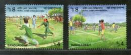 Bangladesh 2002 Rural Games Childrens Playing Sport Sc 663-4 MNH # 2275 - Bangladesh