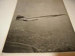 ANCIENNE AFFICHE PUBLICITE PARIS ET CONCORDE 1969 - Bijoux & Horlogerie