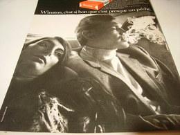 ANCIENNE PUBLICITE CIGARETTE WINSTON 1969 - Tabac (objets Liés)