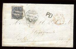 Suisse - Lettre Avec Texte De Genève Pour La France En 1874 - Réf O12 - 1862-1881 Helvetia Assise (dentelés)