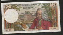FRANCE - BANQUE De FRANCE - 10 Francs VOLTAIRE ( K. 2 / 12 / 1965 ) Serie: S. 208 - 1962-1997 ''Francs''