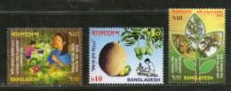 Bangladesh 2002 Tree Plantation Campaign Jackfurite Mango Sc 652-4 MNH # 2380 - Bangladesh