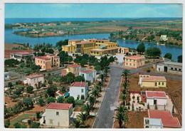 SABAUDIA    SCORCIO  PANORAMICO  E  LAGO  DI  PAOLA  (TASSATA)  2  SCAN         (VIAGGIATA) - Altre Città