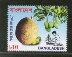 Bangladesh 2002 Tree Plantation Campaign Jackfurite Mango Sc 654 MNH # 2736 - Bangladesh