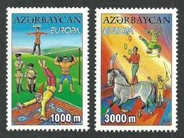 AZERBAIJAN 2002 EUROPA CIRCUS ACROBATS JUGGLERS HORSES SET MNH - Azerbaïjan