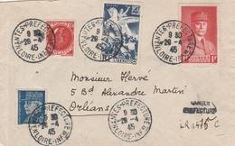 France Nantes Lettre Recommandée Provisoire 1945 - 1921-1960: Modern Period