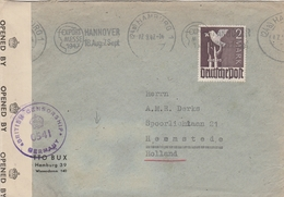 Allemagne Zone AAS Lettre Censurée Hamburg Pour La Hollande 1947 - American,British And Russian Zone