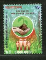 Bangladesh 2003 National Tree Plantation Campaign Hand Family Sc 672 MNH # 584 - Bangladesh