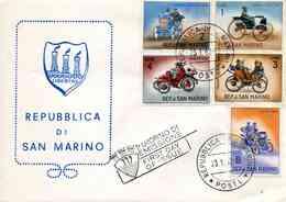 """ENV. PJ De 1962 De San Marin Avec Timbres """"Histoire De L'Automobile"""" - Oblit. PJ 23.1.62 - Lettres & Documents"""