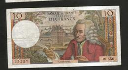 FRANCE - BANQUE De FRANCE - 10 Francs VOLTAIRE ( L. 5 / 2 / 1970 ) Serie: W. 556 - 1962-1997 ''Francs''