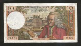 FRANCE - BANQUE De FRANCE - 10 Francs VOLTAIRE ( D. 5 / 2 / 1970 ) Serie: E. 549 - 1962-1997 ''Francs''