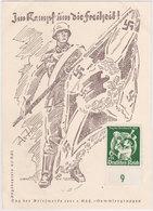 GERMANY 1941 (12.1.) ILLUSTR.CARD USED (on Back) Mi 762 HAMBURG STAMP DAY (first Day) - Allemagne