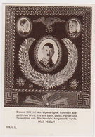 "GERMANY 1930 (28.7.) ART PC HITLER (Pins, Velvet, Silk, Pearls) USED HAMBURG ""World Recreation Congress"" - Germany"