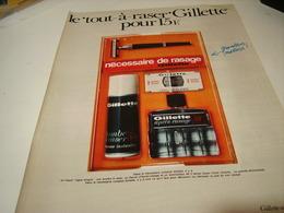 ANCIENNE PUBLICITE COFFRET COMPLET GILLETTE 1969 - Parfums & Beauté