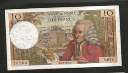 FRANCE - BANQUE De FRANCE - 10 Francs VOLTAIRE ( B. 4 / 2 / 1971 ) Serie: E. 659 - 1962-1997 ''Francs''