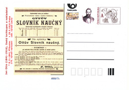 Rep. Ceca / Cart. Postali (Pre2016/18) Jan Otto (1841-1916), 175 ° Anniversario Della Nascita E 100 ° Ann. Della Morte - Fabbriche E Imprese