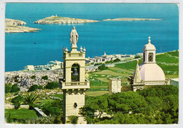 MALTA   ST. PAUL'S BAY FROM  WARDIJA HEIGHTS       2  SCAN     (VIAGGIATA) - Malta