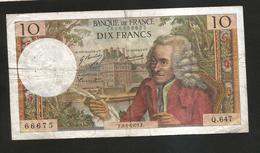 FRANCE - BANQUE De FRANCE - 10 Francs VOLTAIRE ( F. 8 / 1 / 1971 ) Serie: Q. 647 - 1962-1997 ''Francs''