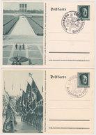 "GERMANY 1937 P.ST.CARDS (8) P 264 /01-08 CPL.POSTMARK ""Nürnberg, Party Day"" - Otros"
