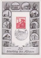 GERMANY 1939 (20.4.) ILLUSTR.CARD HITLER BIRTHDAY BERLIN Mi 691 - Otros