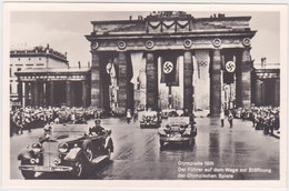 GERMANY 1936 PHOTO PC HITLER (Corso) BERLIN TO OLYMPICS OPENING CEREMONY MINT - Allemagne