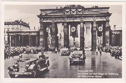 GERMANY 1936 PHOTO PC HITLER (Corso) BERLIN TO OLYMPICS OPENING CEREMONY MINT - Otros