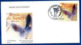 Enveloppe Premier Jour   / Ecole De Nancy / Emile Gallé / Nancy - FDC