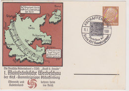 GERMANY 1939 (15.1.) PRIVATE P.ST.CARD ASCHAFFENBURG (Stamp Show) PP 122/D 2/02 - Allemagne